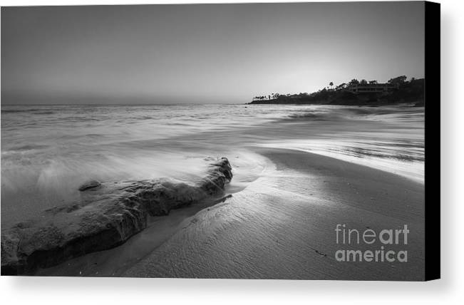 Michael Ver Sprill Canvas Print featuring the photograph Finding Serenity Bw by Michael Ver Sprill
