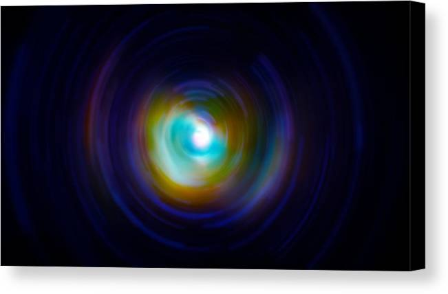 Universe Canvas Print featuring the photograph Infrared Iris Spin Art by Jennifer Rondinelli Reilly - Fine Art Photography