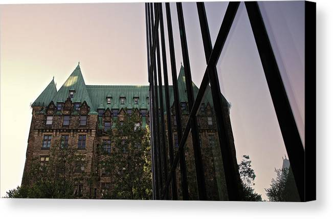 Ottawa Canvas Print featuring the photograph Juxtapositional by Kellianne Hutchinson