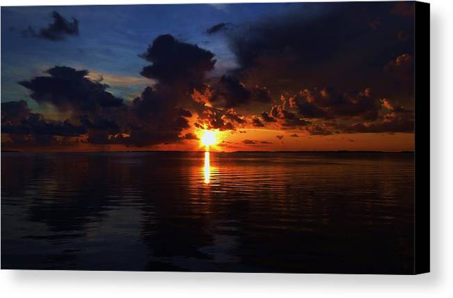 Sunset Canvas Print featuring the photograph Keys Sunset by Bill Bonomo