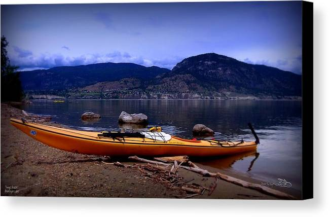 Kings Beach Canvas Print featuring the photograph Kings Beach - Okanagan Lake - Kayaking by Guy Hoffman