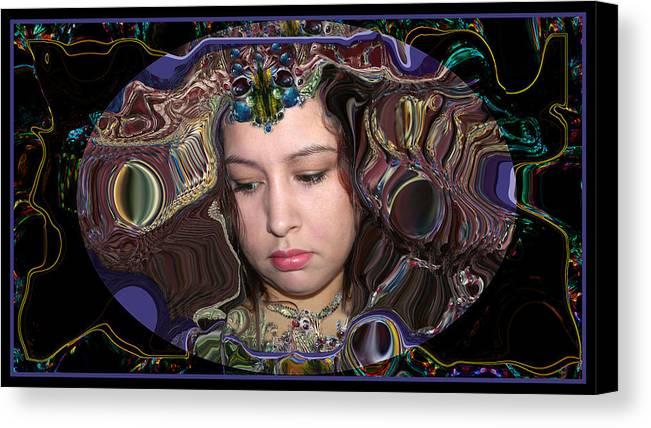 Portrait Canvas Print featuring the digital art Lapislazuli Beauty by Otto Rapp