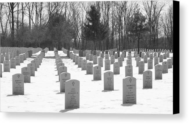 Cemetery Canvas Print featuring the photograph National Cemetery  # by Rob Luzier