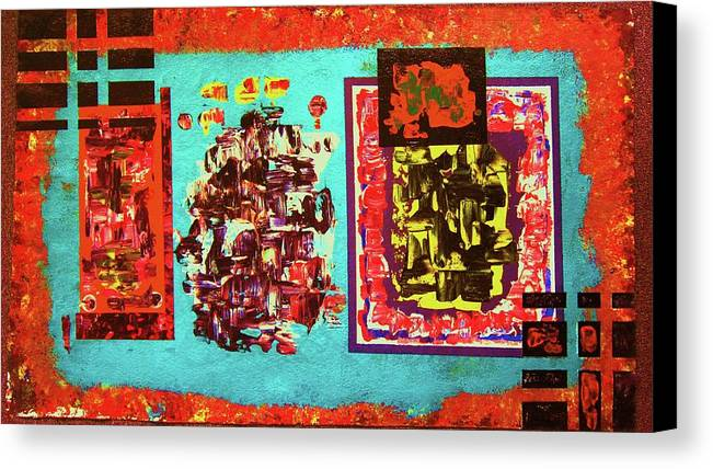 Abstract Canvas Print featuring the painting ...not On My Window..chiricagua Art.. by Adolfo hector Penas alvarado