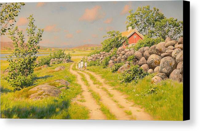 Summer Canvas Print featuring the painting Summer Landscape by Mountain Dreams