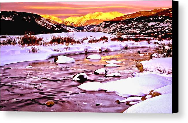 1st Cavalry Canvas Print featuring the painting Sunrise On A Cold Day by Bob and Nadine Johnston