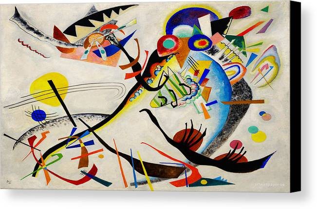 Wassily kandinsky canvas print featuring the painting the bird by wassily kandinsky