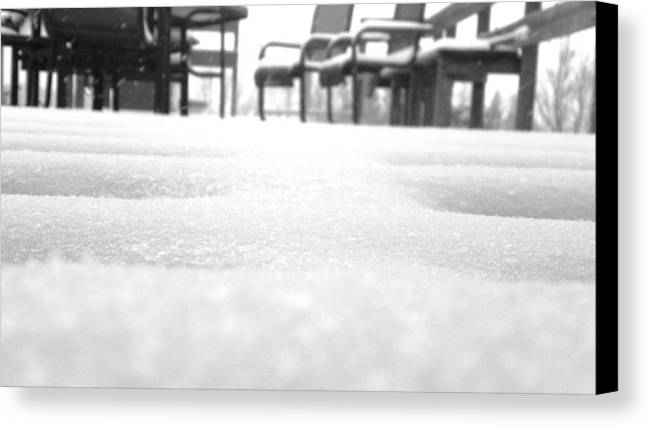 Snow Canvas Print featuring the photograph Vacant Out Back by Keegan Miller