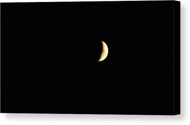 Crescent Moon Canvas Print featuring the photograph Crescent Moon by Jessica Cruz