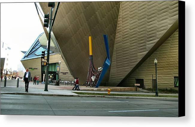 Denver Art Museum Canvas Print featuring the photograph Denver Art Museum - Exterior 2010 by Glenn Bautista