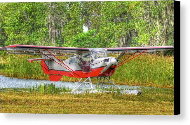 Seaplane Canvas Print featuring the photograph In The Woods by Dieter Lesche