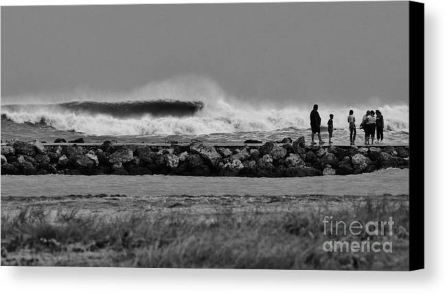 Surf Canvas Print featuring the photograph Inlet Storm Surf by Lynda Dawson-Youngclaus
