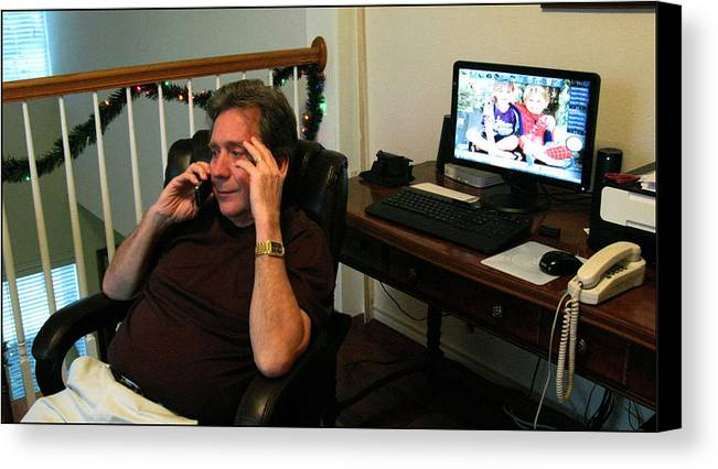 Weatherford Canvas Print featuring the photograph Len Calling 2009 by Glenn Bautista