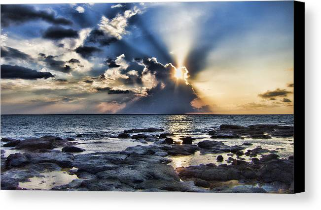 Clouds Canvas Print featuring the photograph Vanilla Sky by Douglas Barnard