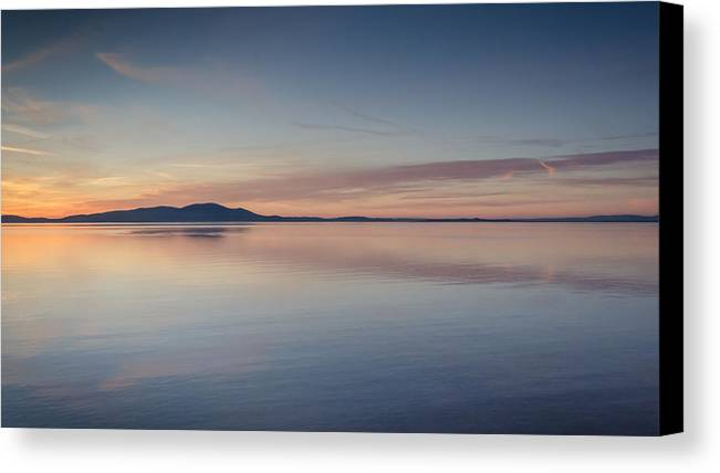 Solway Firth Canvas Print featuring the photograph Silloth Sunset by Phil Scarlett