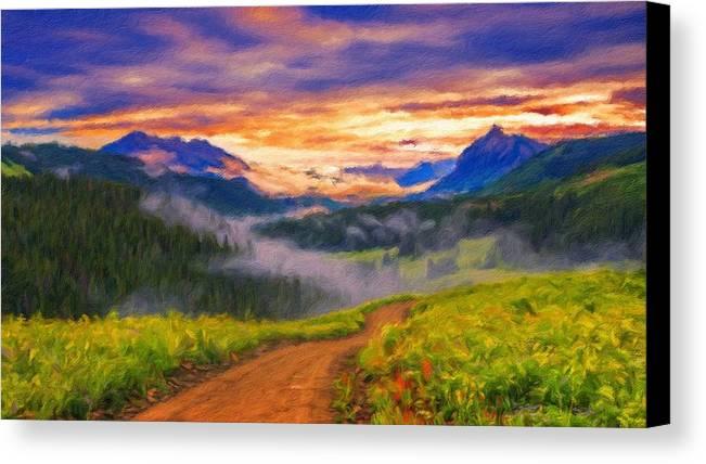 Landscape Canvas Print featuring the digital art Art Landscape by Usa Map