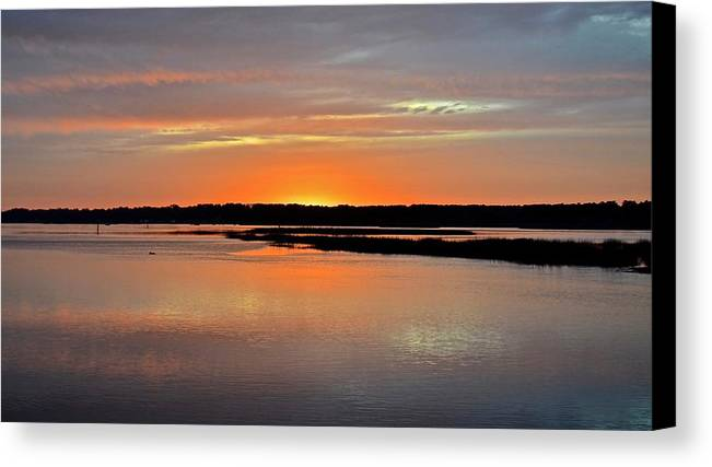 Sunset Canvas Print featuring the photograph Another Hilton Head Island Sunset by Carol Bradley