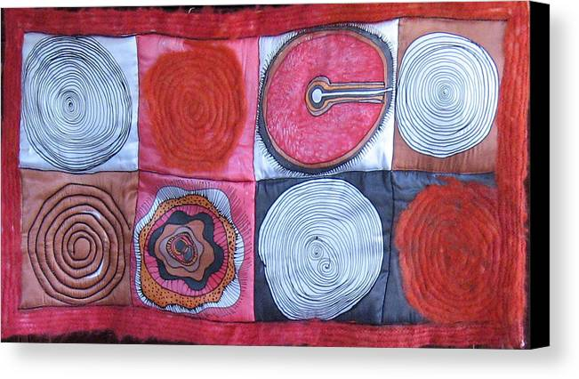 Abstract Canvas Print featuring the tapestry - textile Beginning Of Life by Aliza Souleyeva-Alexander