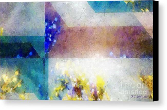 Abstract Canvas Print featuring the painting Celestial Navigation by RC DeWinter
