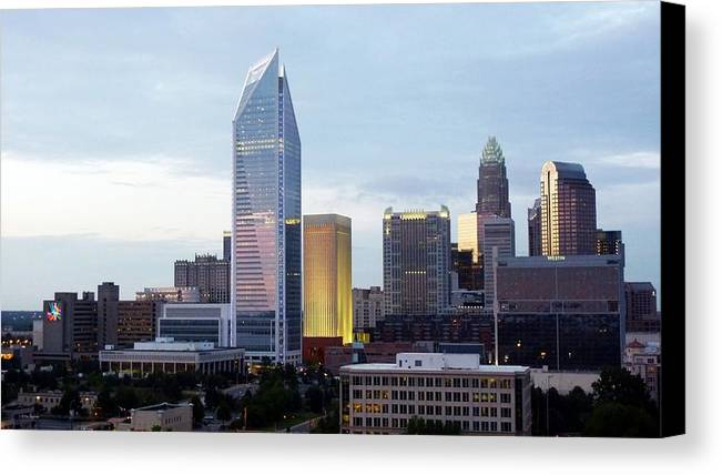 Charlotte Canvas Print featuring the photograph Charlotte Skyline by Tim Mattox