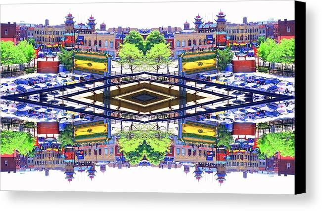 Chinatown Canvas Print featuring the photograph Chinatown Chicago 3 by Marianne Dow