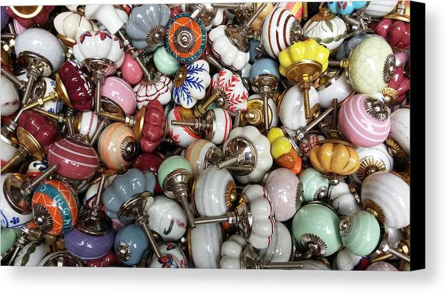 Photography Canvas Print featuring the photograph Doorknob by Adeline-Julie Baes