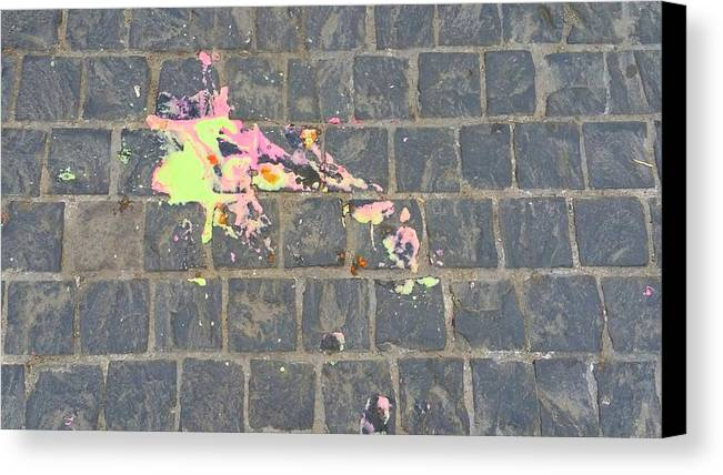 Canvas Print featuring the photograph Drop Of Colour by Flip Suc