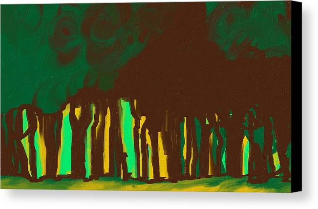 Digital Art Canvas Print featuring the painting Forest In The Hidden by Katey Love