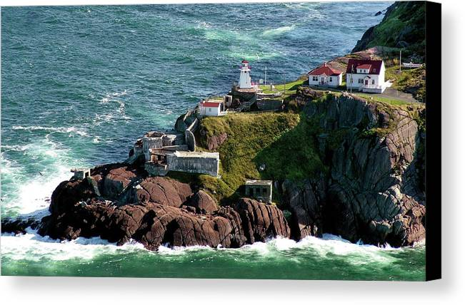 Lighthouse Canvas Print featuring the photograph Fort Amherst At St. Johns New Foundland by William Bitman
