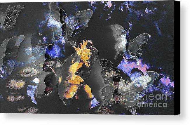 Fragility Canvas Print featuring the digital art Fragility by Daniela Constantinescu