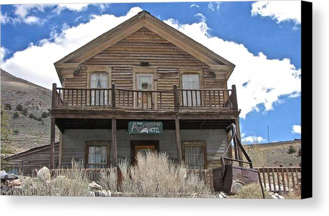 4x4 Canvas Print featuring the photograph Ghost Hotel by Backcountry Explorers