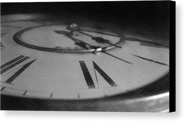Sketch Canvas Print featuring the photograph Grandfather Clock by Dominique Molee