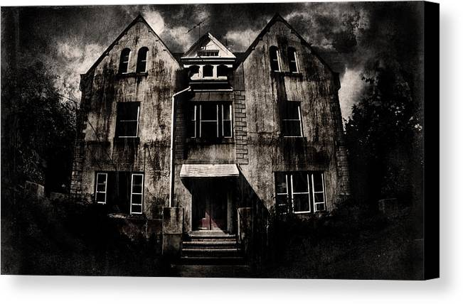 Haunted House Canvas Print featuring the digital art Home by Torgeir Ensrud