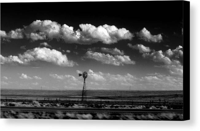 Windmills Canvas Print featuring the photograph I Am Still Here.. by Al Swasey