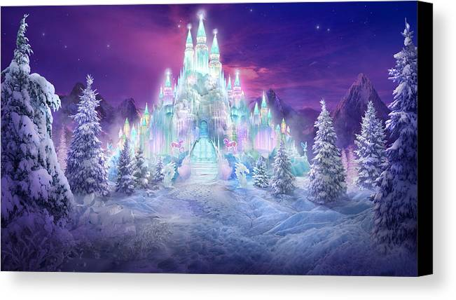 Philip Straub Canvas Print featuring the mixed media Ice Castle by Philip Straub