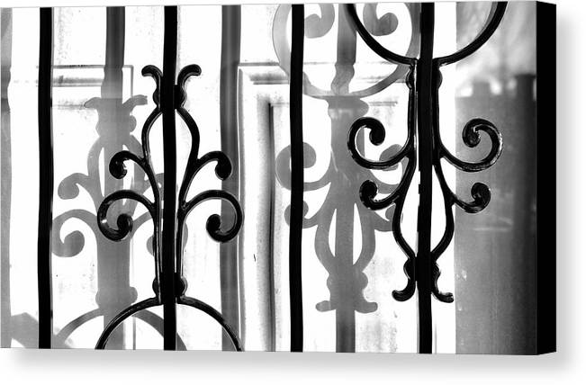 Shadows Canvas Print featuring the photograph Iron And Shadow by Julian Grant