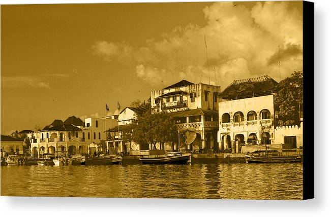 Kenya Canvas Print featuring the photograph Lamu Harbour by Patrick Kain