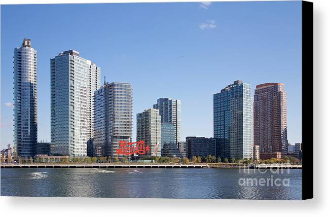 America Canvas Print featuring the photograph Long Island City Towers by Jannis Werner