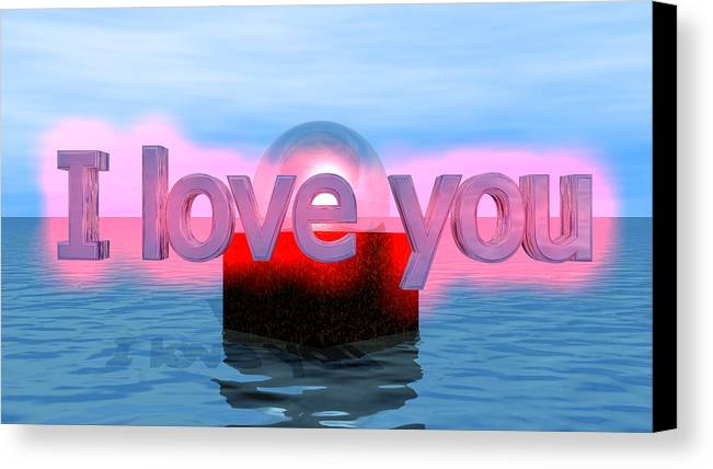 Canvas Print featuring the digital art Love by Andreas R Wesener