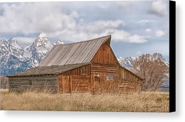 Grand Teton National Park Canvas Print featuring the photograph Mormon Row by CR Courson