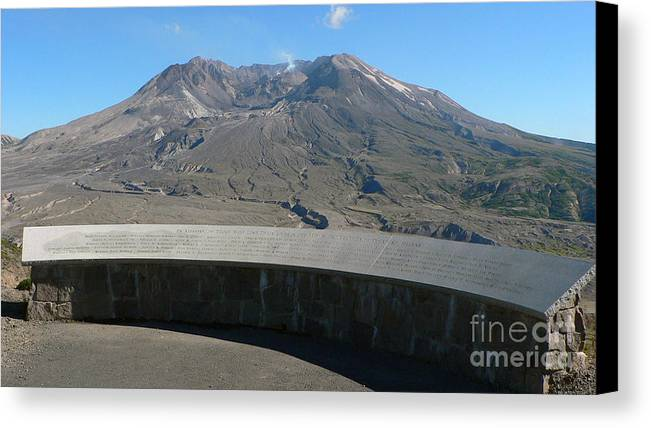 Volcano Canvas Print featuring the photograph Mount St. Helen Memorial by Larry Keahey