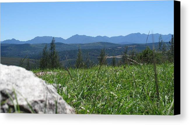 Rocks Canvas Print featuring the photograph Mountains by David Botha