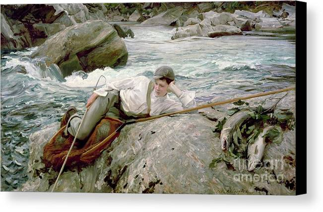 On His Holidays Canvas Print featuring the painting On His Holidays by John Singer Sargent