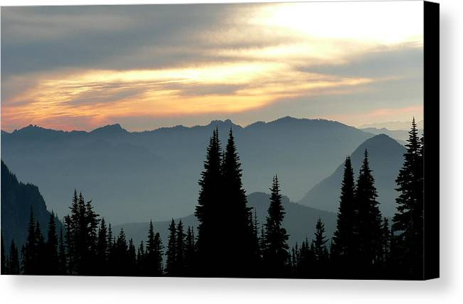 Mountains Canvas Print featuring the photograph Peaks And Valley by Larry Keahey