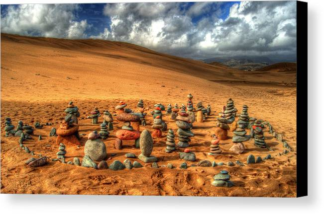 Pebbles Canvas Print featuring the photograph Pebblehenge by Rob Hawkins
