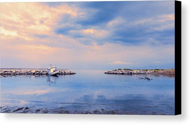 Sicily Canvas Print featuring the photograph Quiet Sea by Emanuele Carlisi