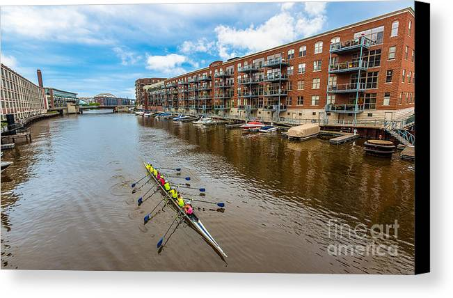 Boat Canvas Print featuring the photograph River Cruis'n by Andrew Slater