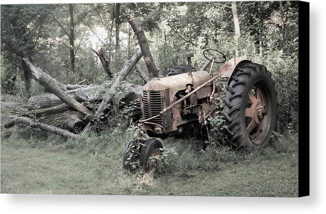 Farm Canvas Print featuring the photograph Rusty Tractor 2 by Joyce Wasser