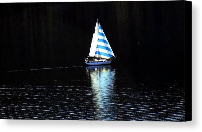 Sailboat Canvas Print featuring the photograph Sailing by Tiffany Vest