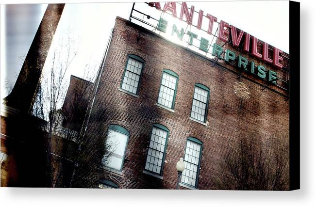 enterprise Mill Canvas Print featuring the photograph Slit Scan 2 by Patrick Biestman